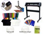 T-shirt Making Vinyl Cutter & Heat press package Package